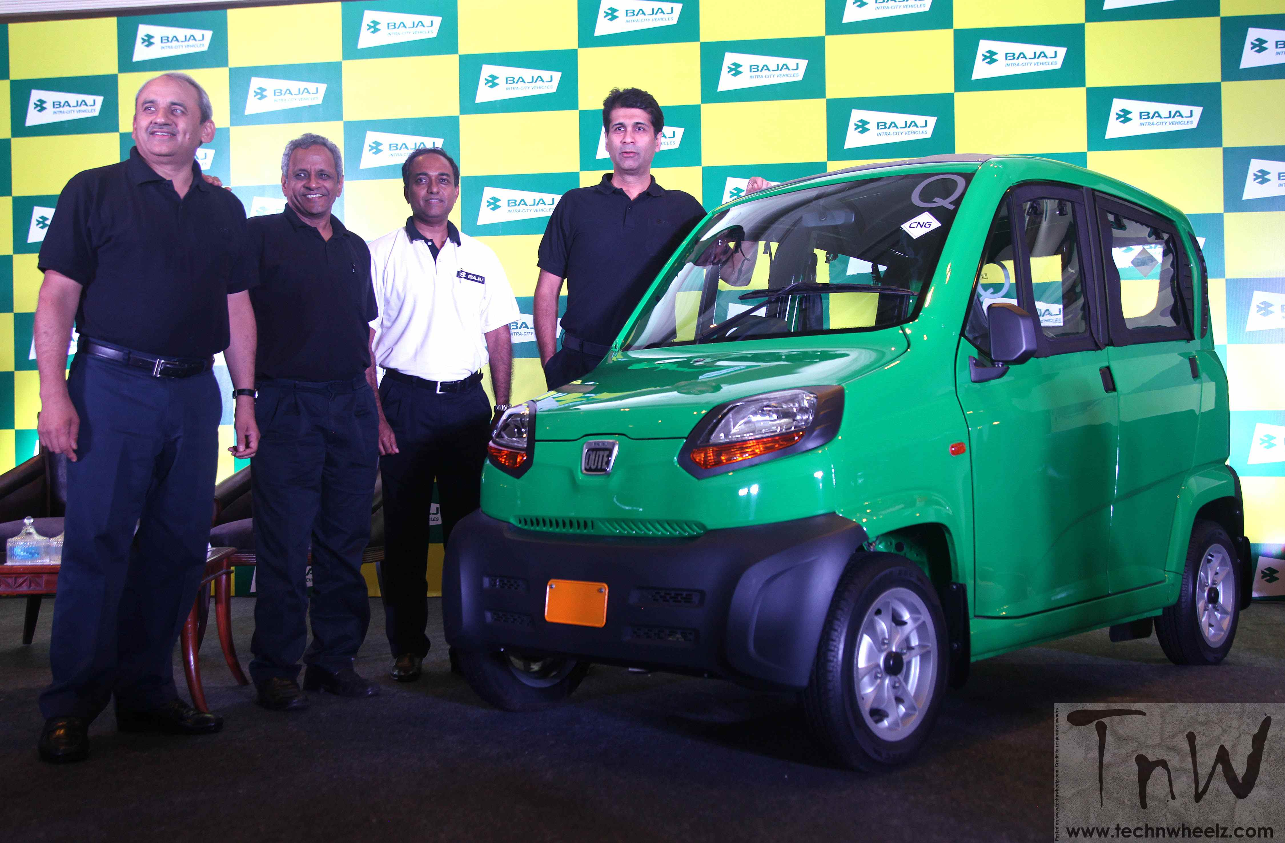 Bajaj RE60 named- the Qute. Exports announced, India launch awaiting