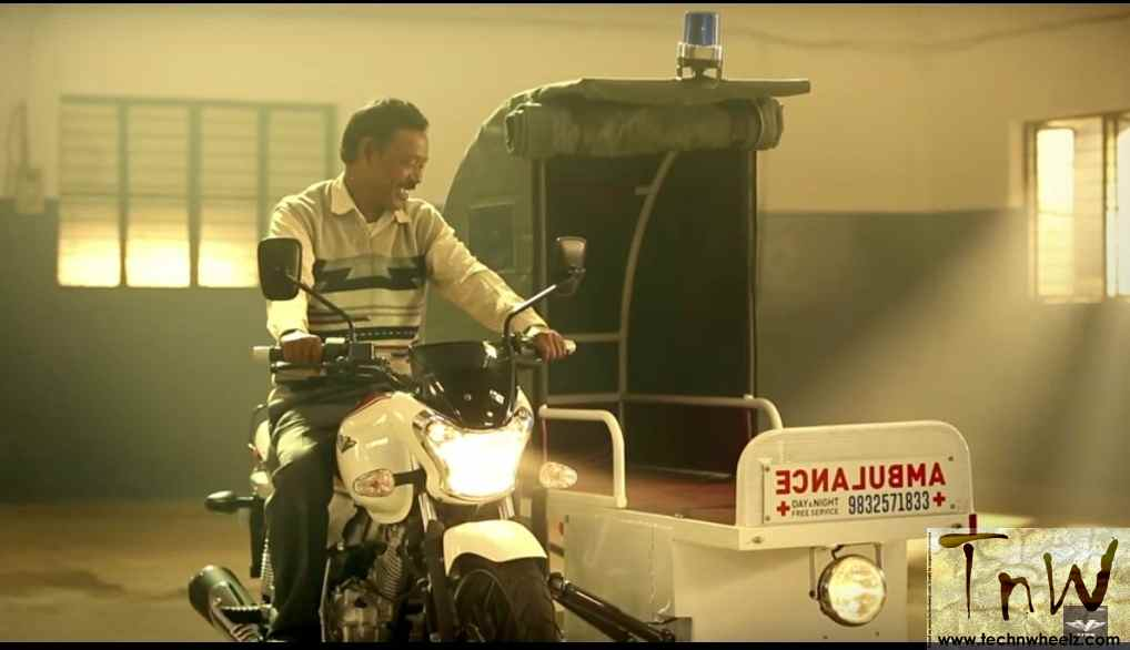 Karimul Haque aka Ambulance Dada gets Bajaj V15 based bike ambulance