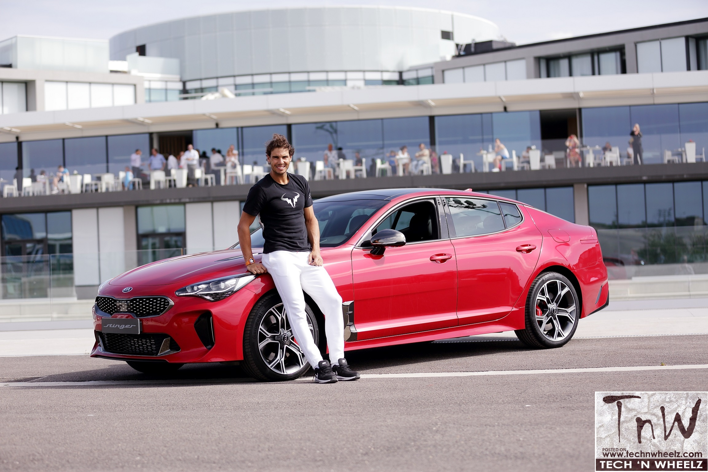 Kia gifts the Stinger to Rafael Nadal – the world's number one tennis player