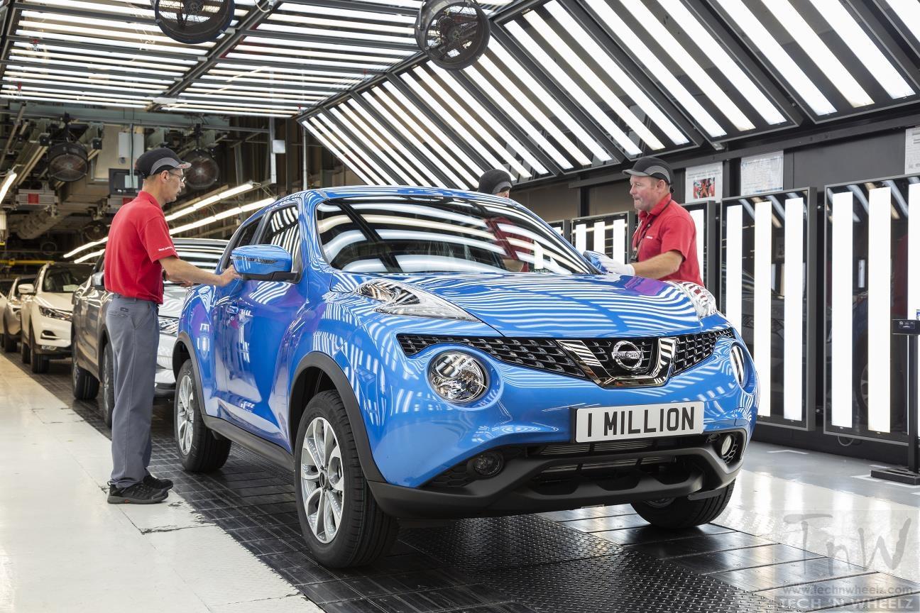 Nissan Juke hits one million. Rolled off at Sunderland Plant.
